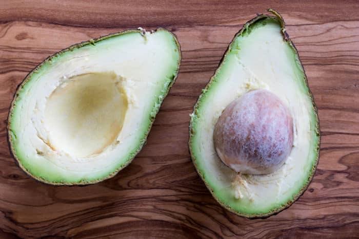 Image of opened avocado halves