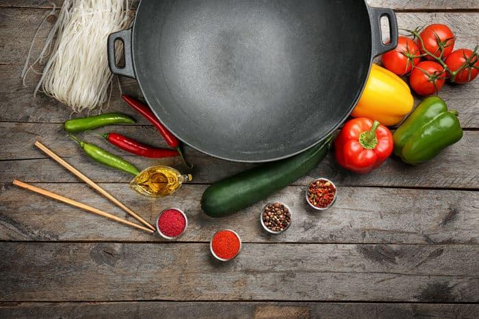 Photo of cast iron wok