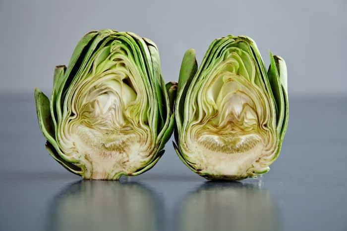 Image of artichoke halves