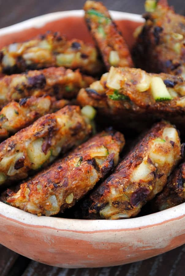 Bean and Zucchini Patties