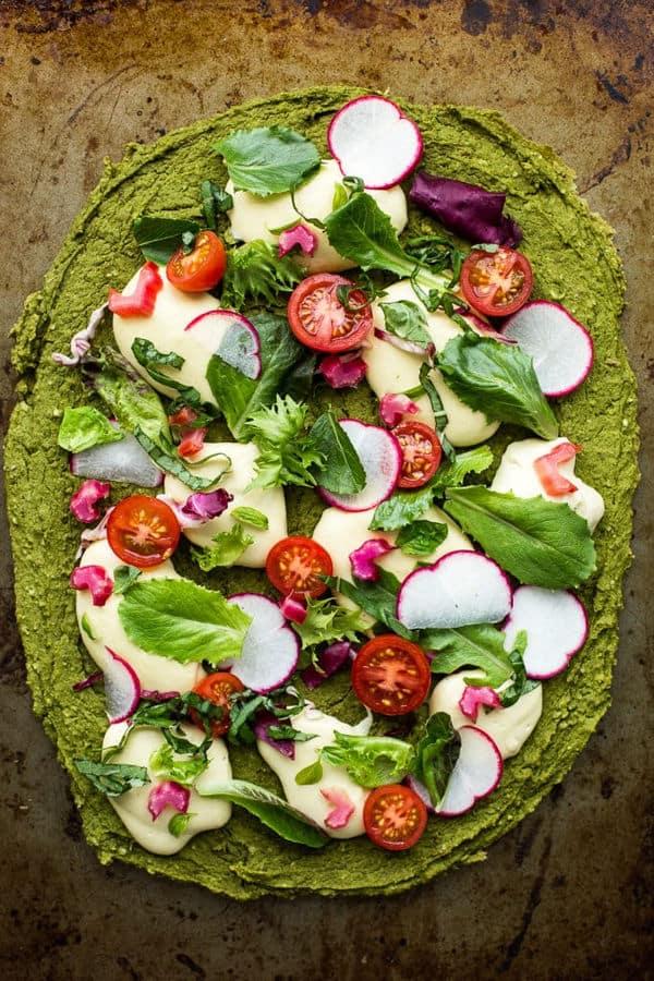 Green Split Pea & Spinach Pizza Crust