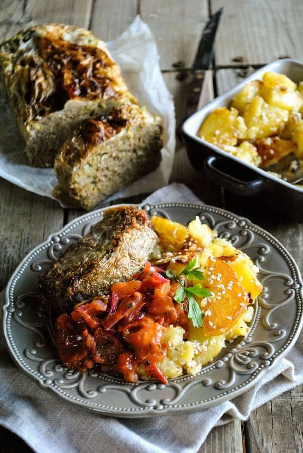 Lentil Loaf with Cabbage