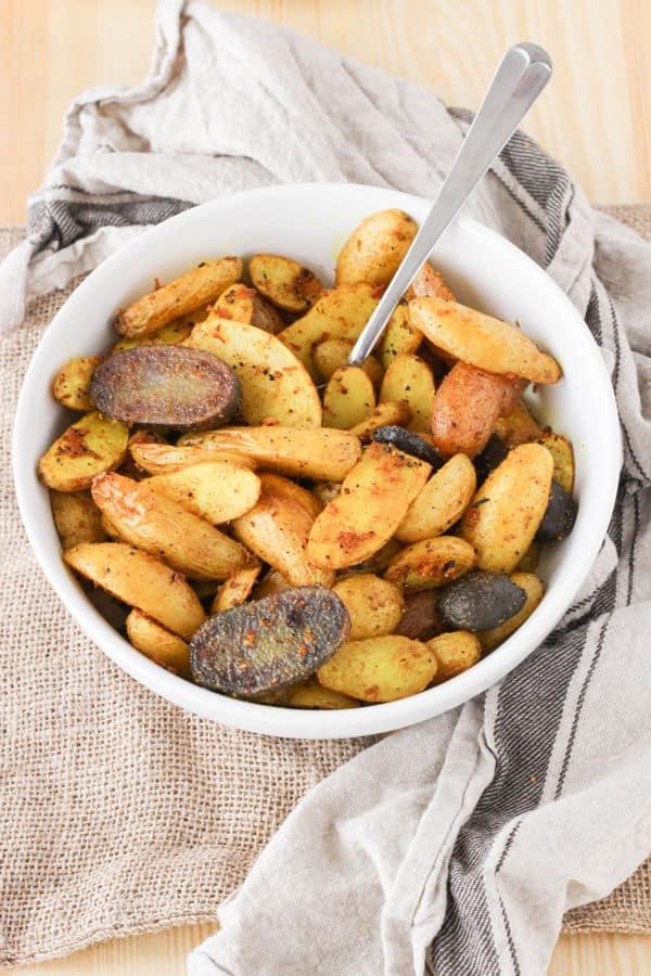 Roasted Turmeric Black Pepper Fingerling Potatoes