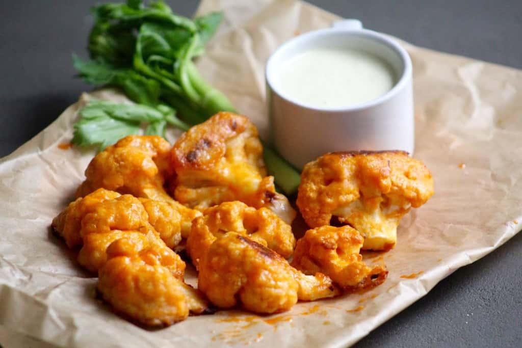 5-Ingredient Cauliflower Buffalo Wings