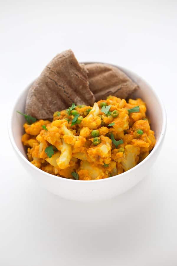 Aloo Gobi Matar (Potato, Cauliflower and Pea Curry)