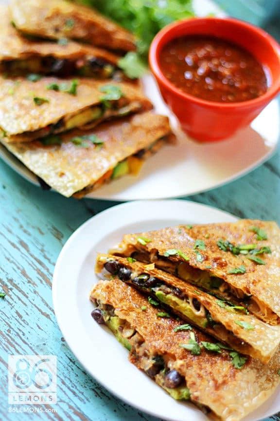 Amazing Veggie Quesadillas (Gluten-Free)