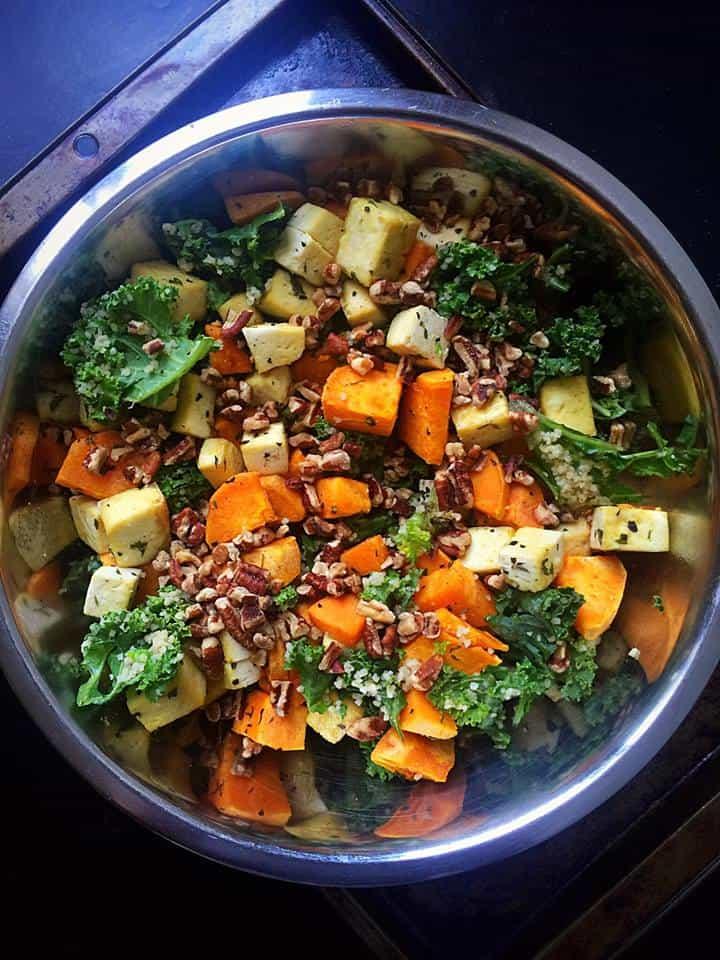 Autumn Superfood Kale Salad
