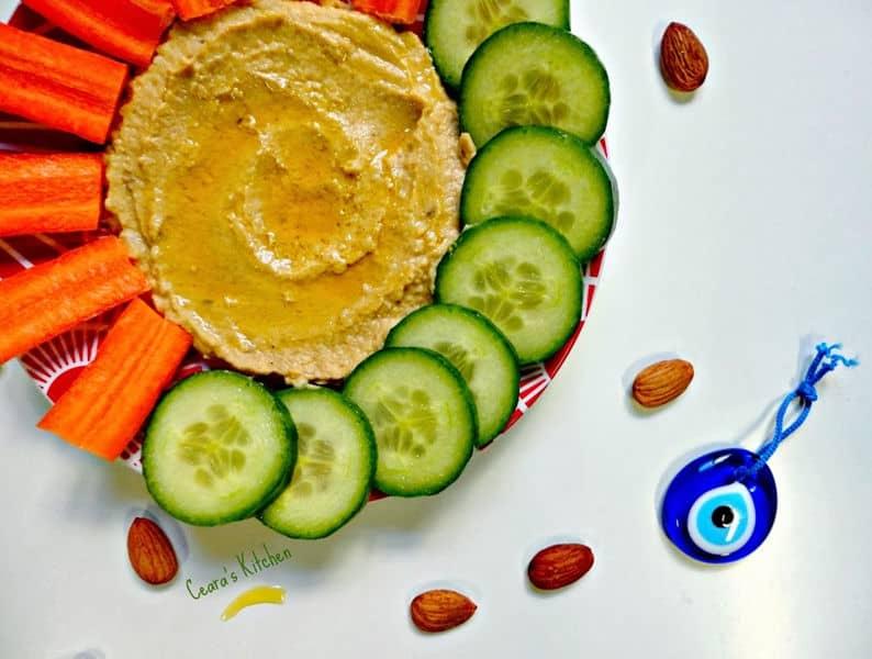 Avocado Almond Butter Hummus