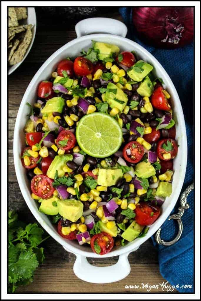 Avocado, Black Bean And Corn Salad