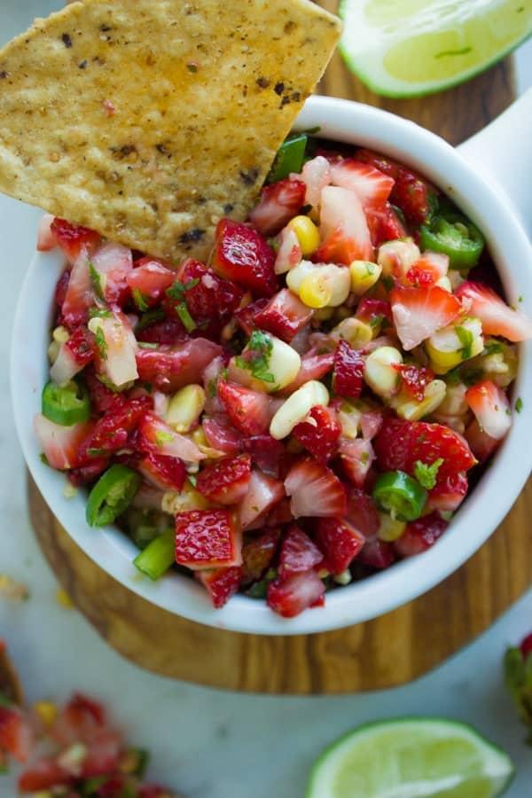 Best Strawberry Corn Salsa