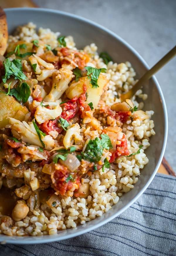 Cauliflower, Potato, and Chickpea Curry