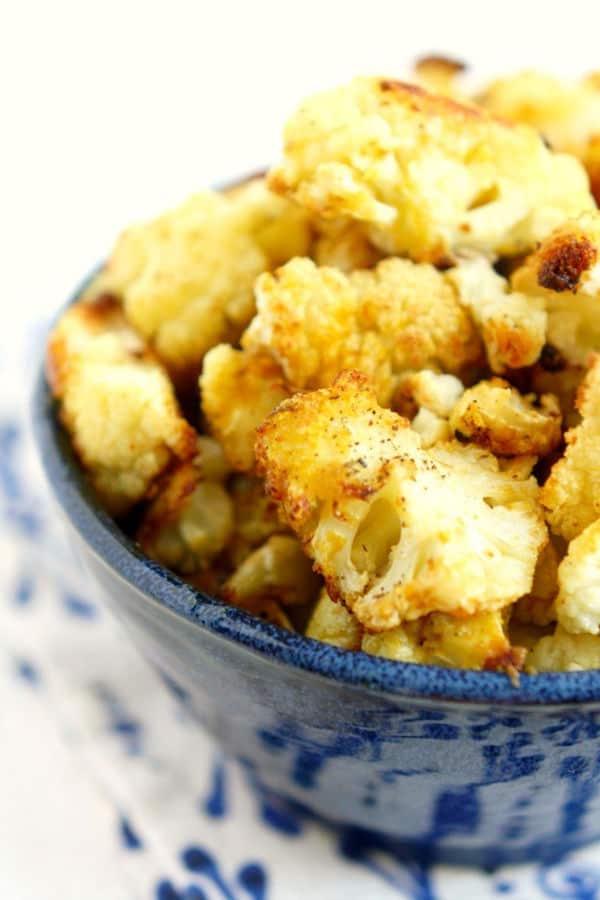Cheesy Roasted Cauliflower (Gluten-Free)