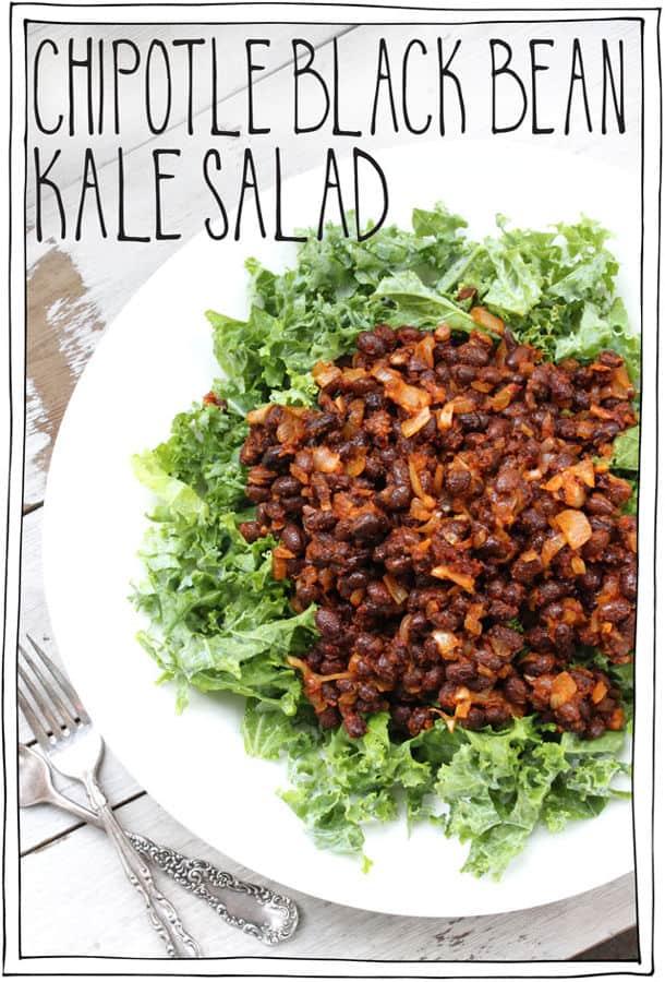 Chipotle Black Bean Kale Salad