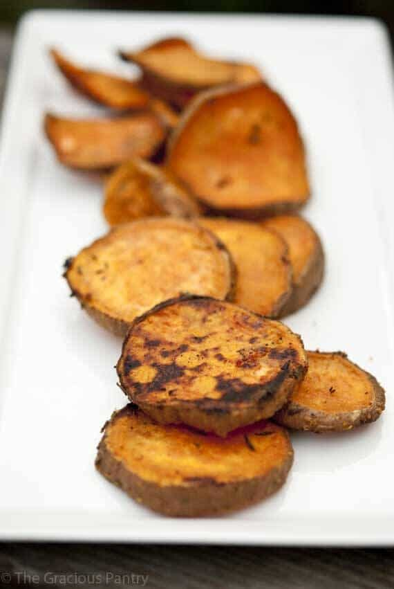 Clean Eating BBQ Rosemary Sweet Potatoes
