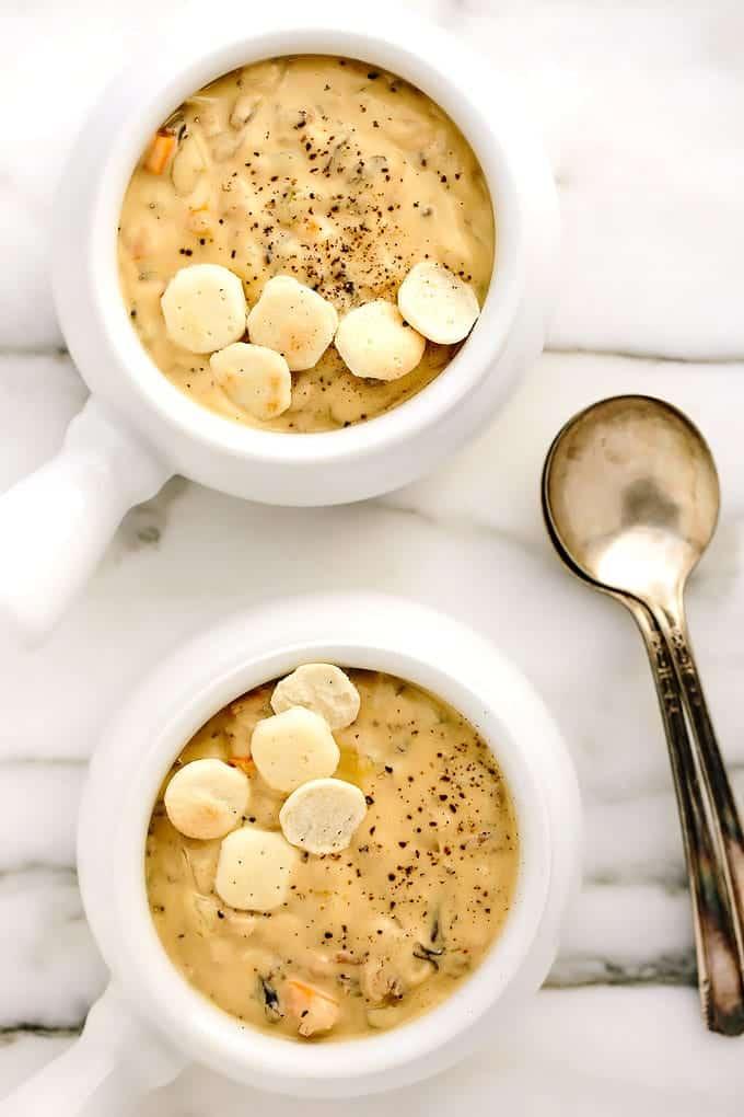 Creamy Cauliflower Wild Rice Soup