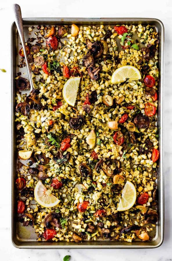 Dukkah Roasted Vegetables Chopped Salad