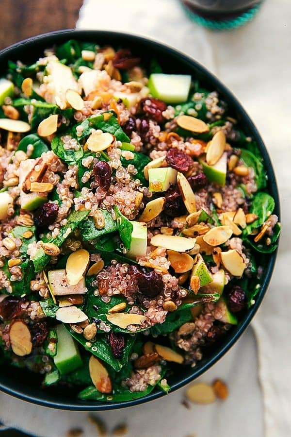 Easy Almond Apple Quinoa Salad