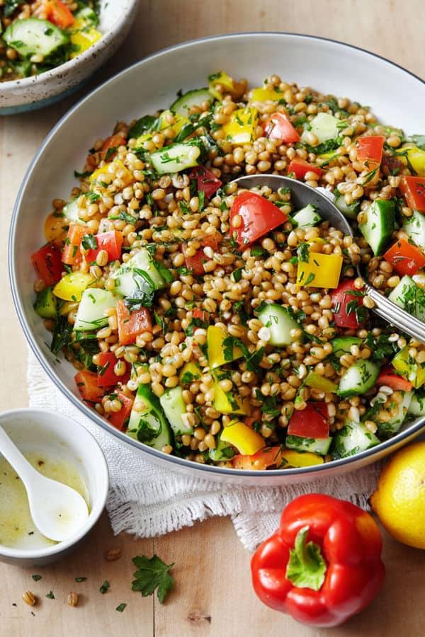 Grain Salad with Fresh Lemon and Herbs