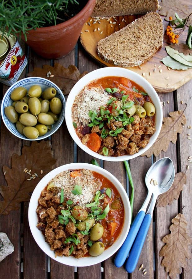 Grain Stew with Sweet Potatoes, Hazelnuts and Crispy Bread Crumbs