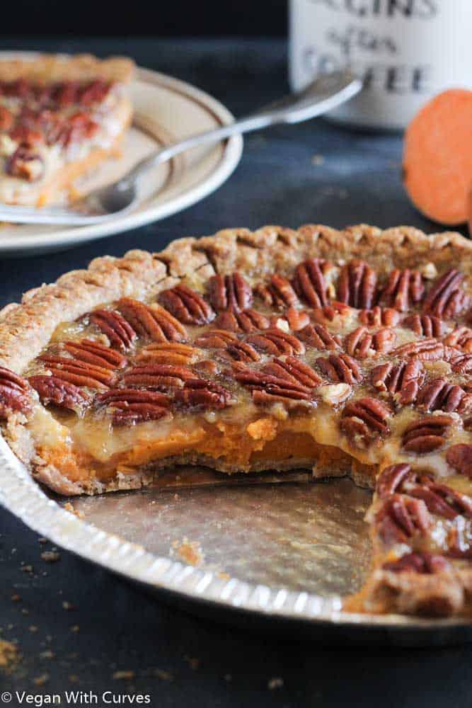 Grandmother's Sweet Potato Pecan Pie