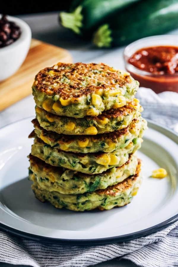 Healthy Zucchini Corn Fritters
