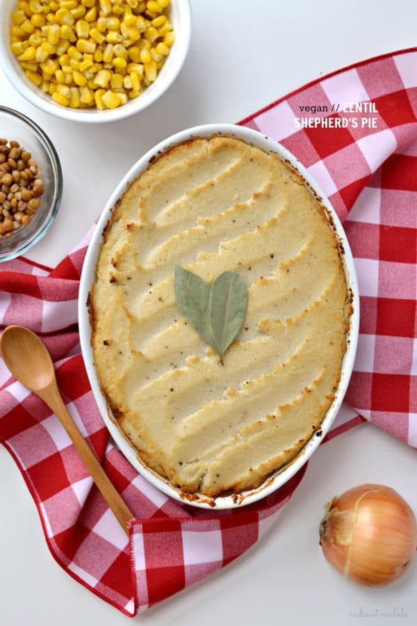 Lentil Shepherd's Pie with Roasted Garlic Mashed Cauliflower
