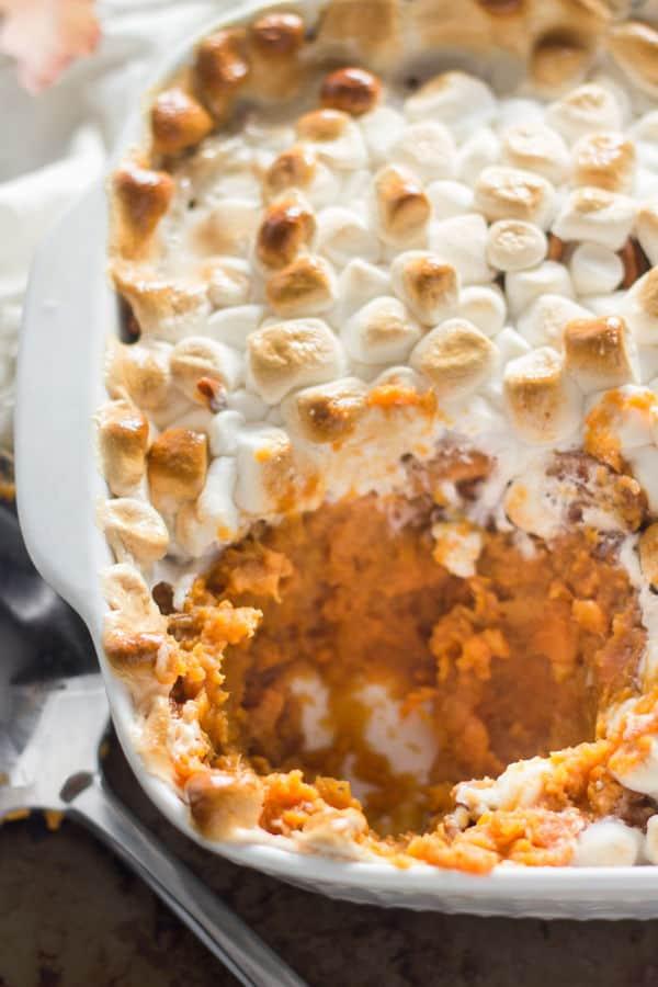 Marshmallow-Topped Sweet Potato Casserole