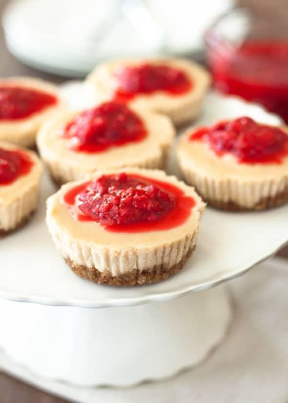 No Bake Vegan Cheesecake with Raspberry Compote