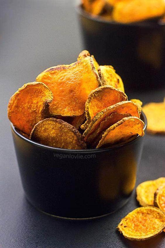 Oven-Baked Masala Sweet Potato Chips