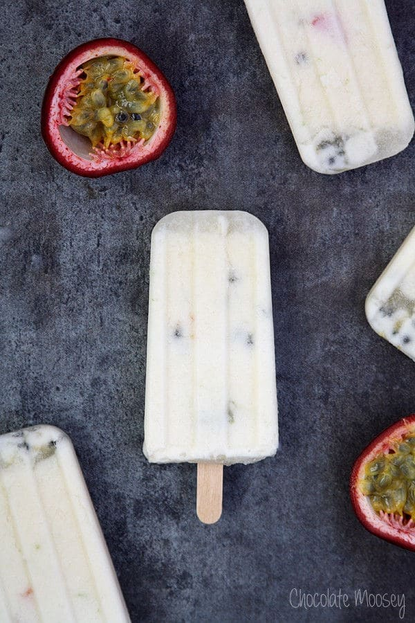 Passion Fruit and Coconut Milk Pops