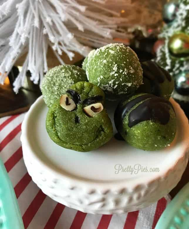 Peppermint Grinch Pops