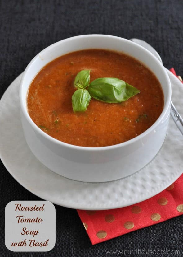 Roasted Tomato Soup with Basil (Gluten-Free)