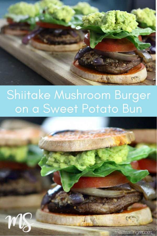 Shiitake Mushroom Sliders on Sweet Potato Bun