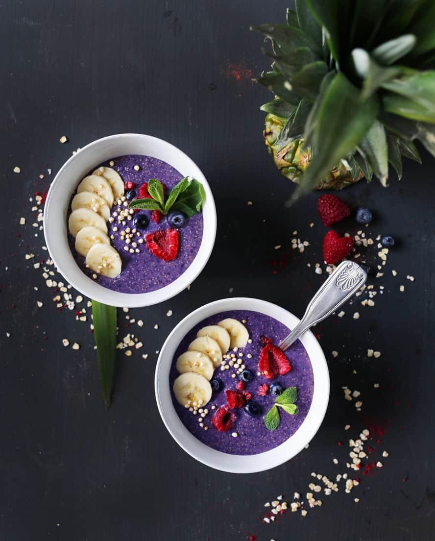 Simple Amaranth and Millet Blueberry Porridge (Gluten Free)