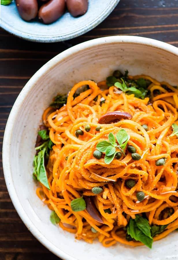 Snappy Italian Sweet Potato Spaghetti Bowls