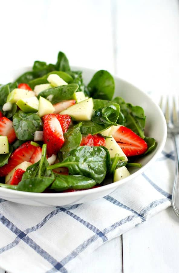 Spinach Strawberry Salad with Orange Poppy Seed Dressing