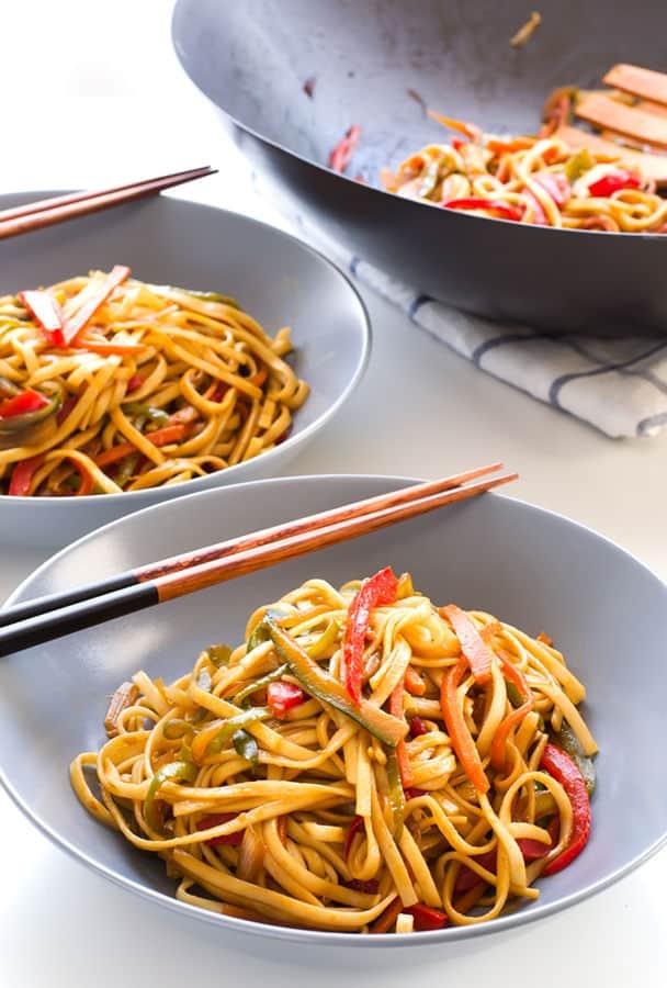 Stir Fried Udon Noodles