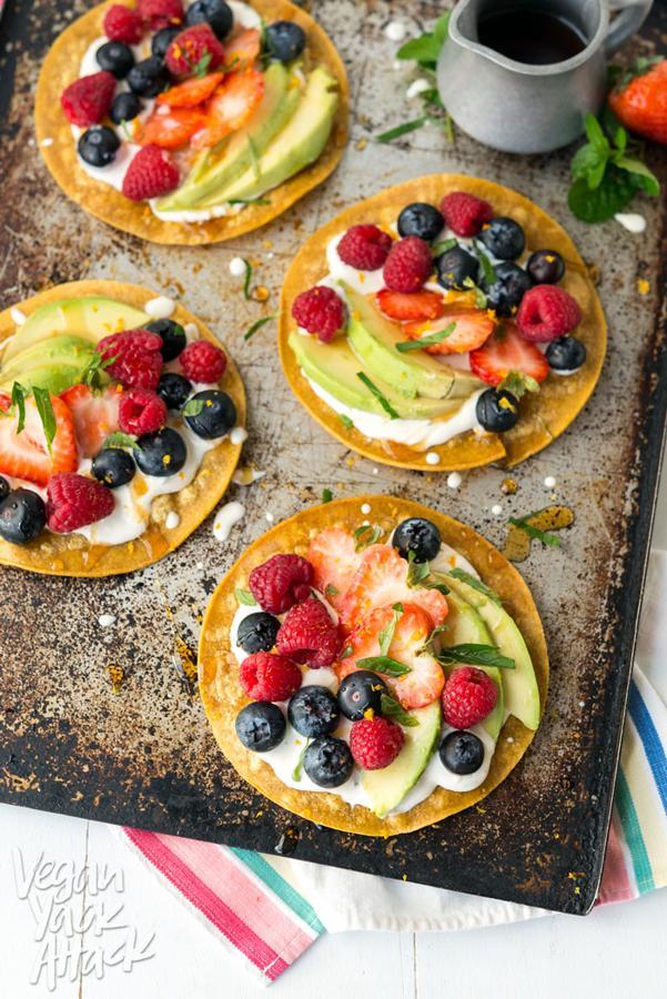 Sweet Breakfast Tostadas