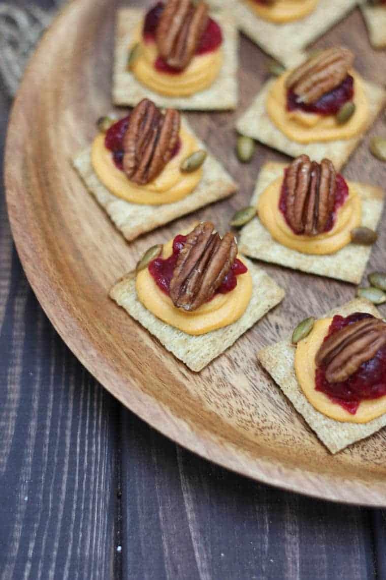 Sweet Potato and Cranberry Mousse Bites