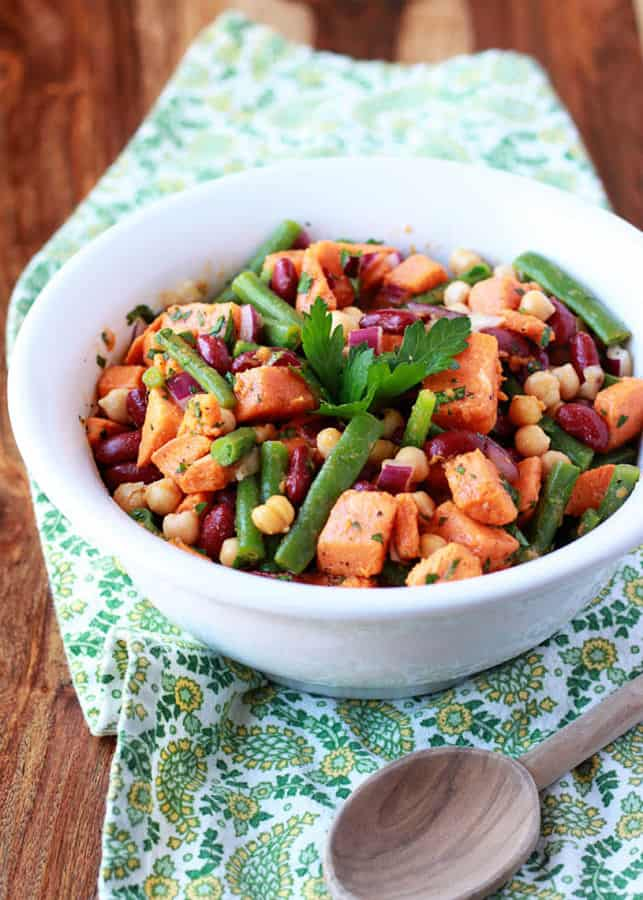 Three Bean Sweet Potato Salad