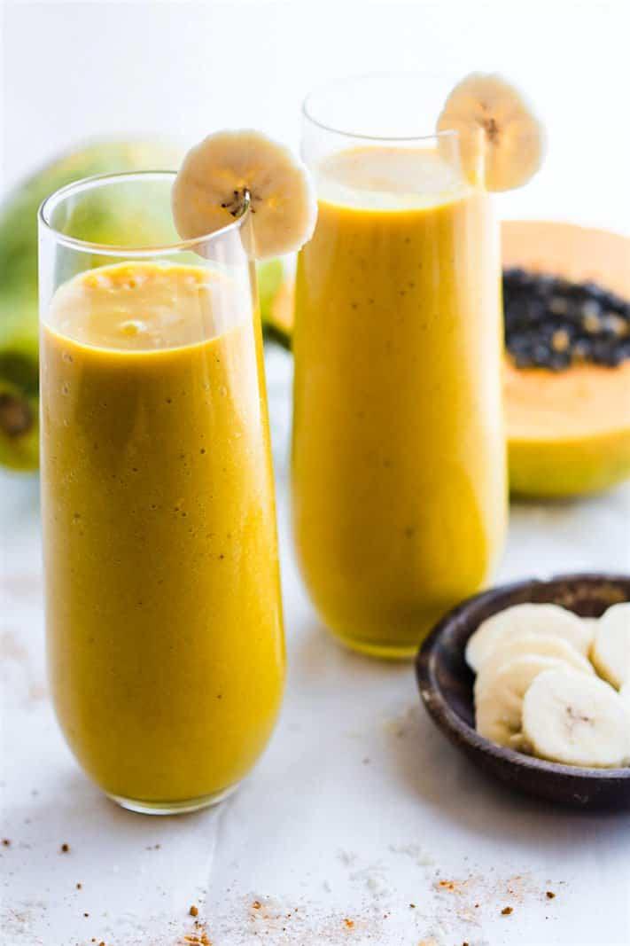 Tropical Turmeric Golden Milk Vegan Smoothie (Anti-Inflammatory Booster)
