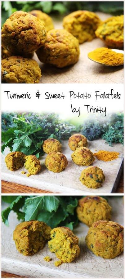 Turmeric & Sweet Potato Falafel Bakes