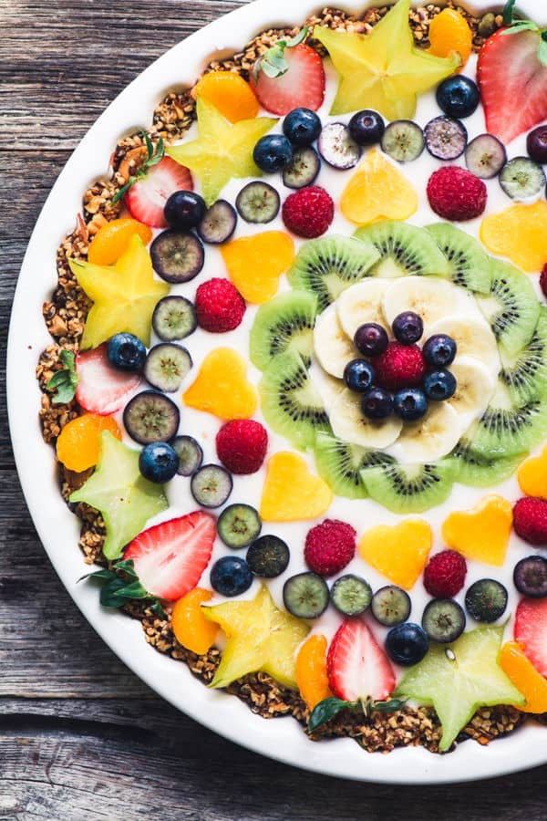 Vegan Fruit and Yogurt Breakfast Tart