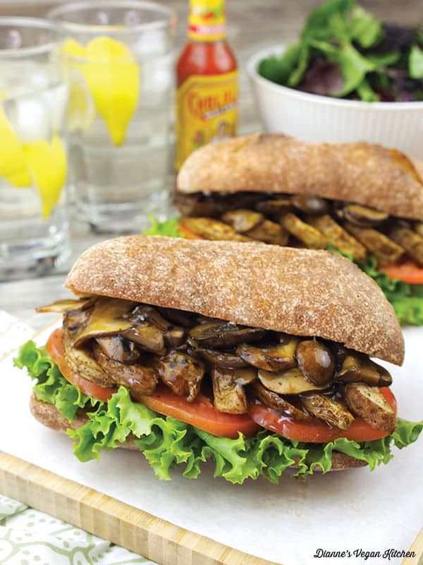 Air Fryer Cajun French Fry Po' Boy with Vegan Mushroom Gravy