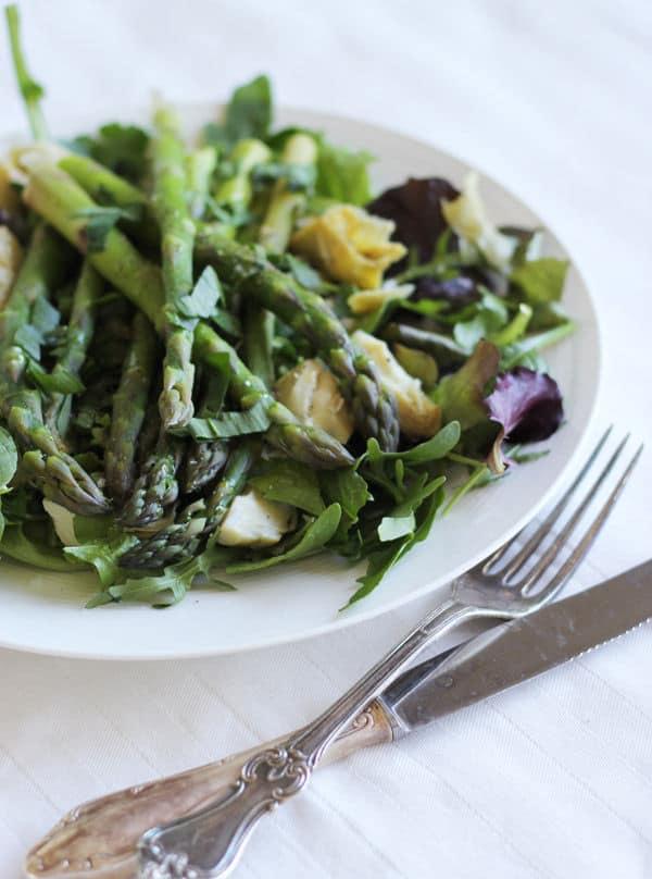 Asparagus & Artichoke Salad with Wild Garlic