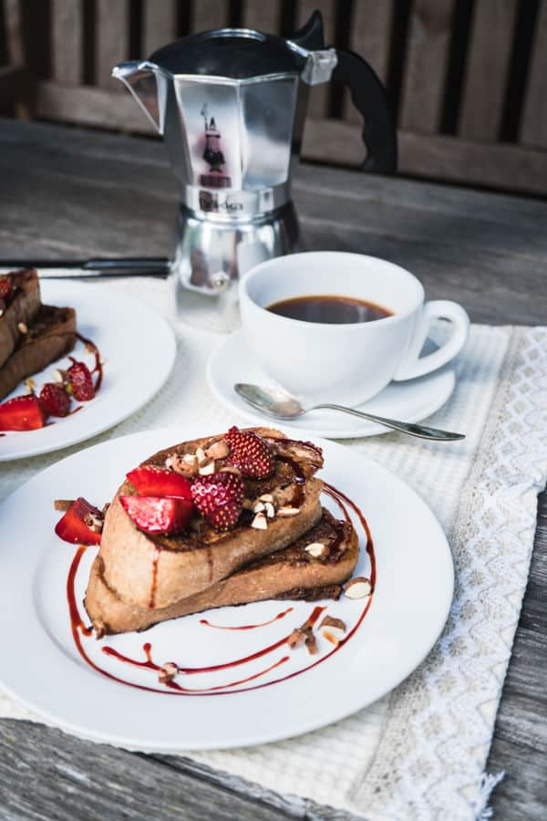 Banana French Toast With Strawberries