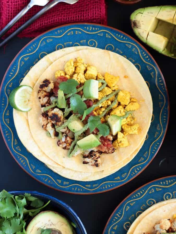 Breakfast Tacos with Cauliflower