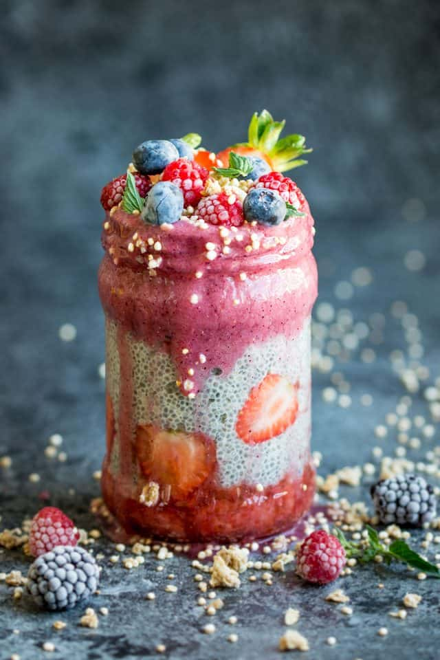 Chia Pudding with Berry Layers