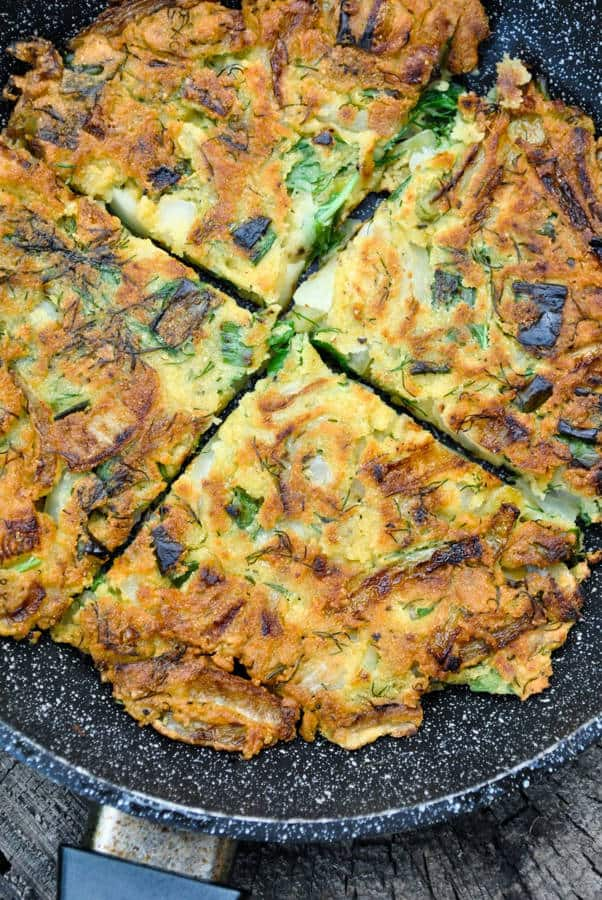 Chickpea and Onion Omelette