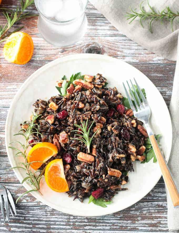 Cranberry Pecan Wild Rice Salad (Gluten-Free)